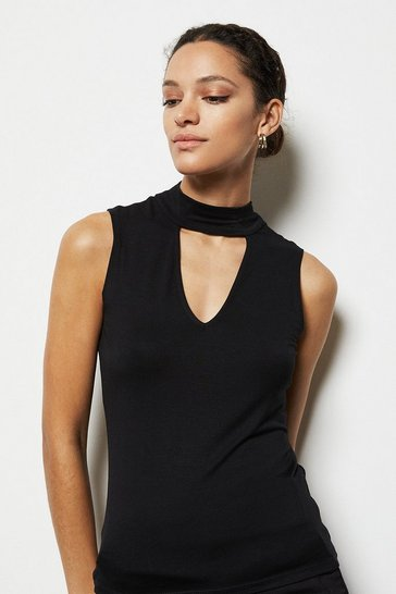 Womens Black Choker Top