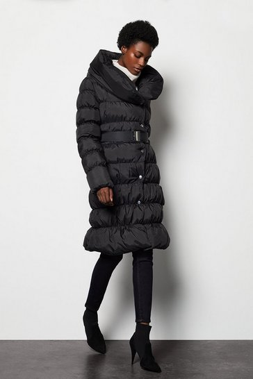 Womens Black Puffer Coat