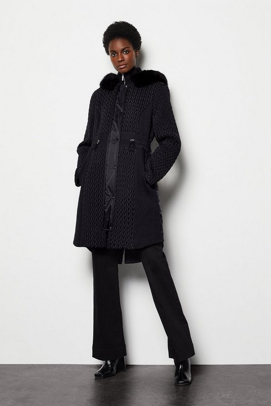 Black Lightweight Padded Coat