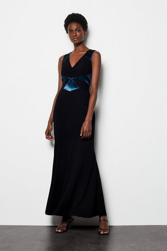 Black Stella Graphic Maxi Dress