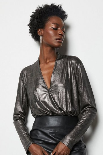 Womens Black  metallic body