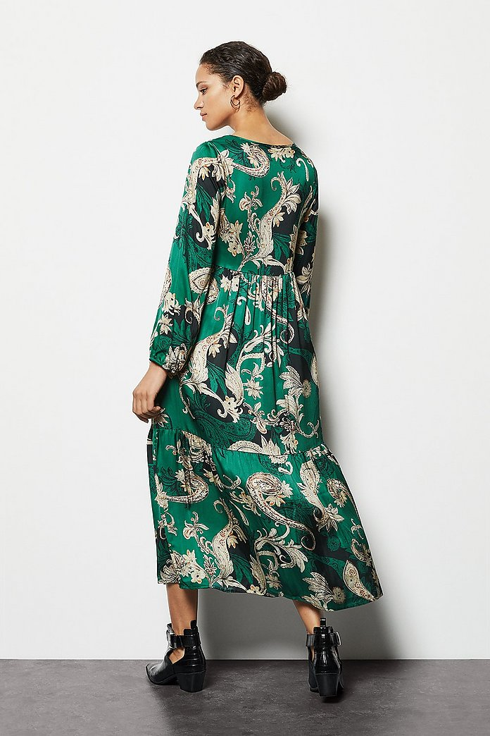Paisley Print Tiered Maxi Dress | Karen Millen