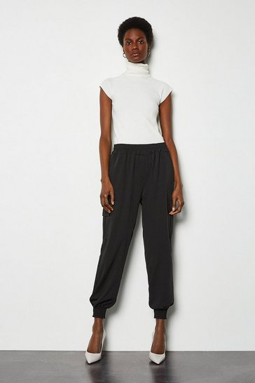 Black Tailored Combat Trousers