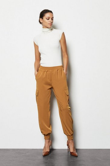 Womens Tobacco Tailored Combat Trousers