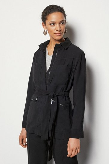 Womens Black Utility Jacket