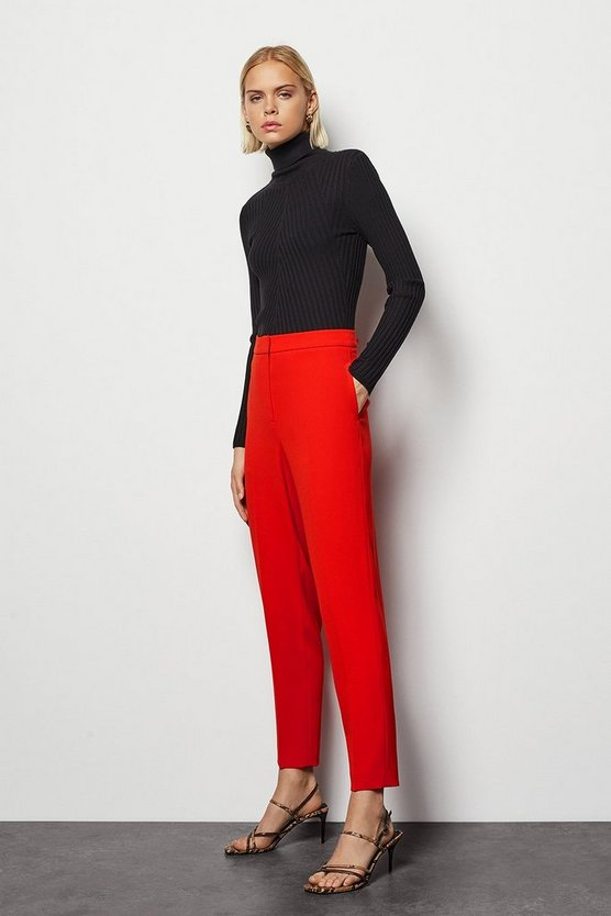 Womens Red Tailored Suit Trousers