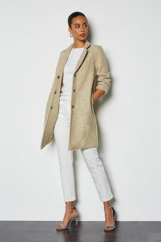 Blush Textured Wool Coat