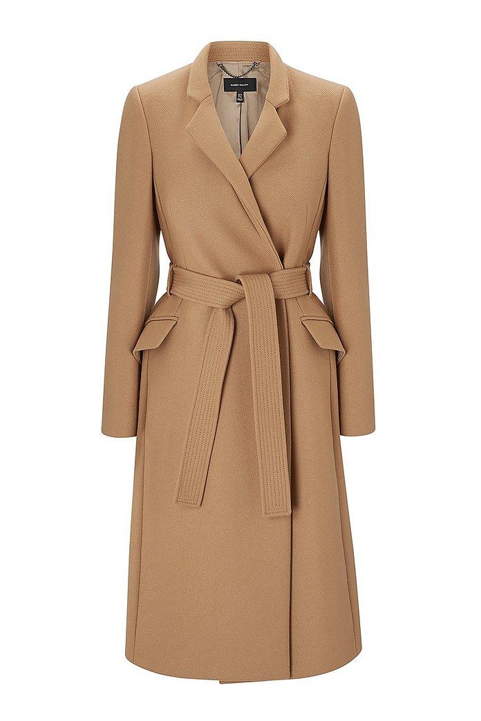 Investment Notch Collar Coat | Karen Millen