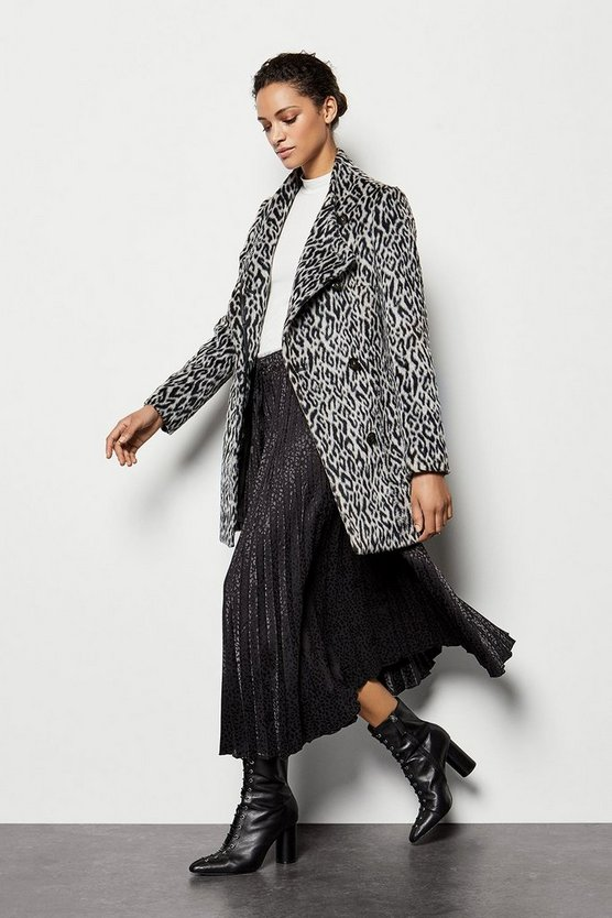 Leopard Wrap Coat
