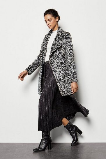 Womens Leopard Wrap Coat
