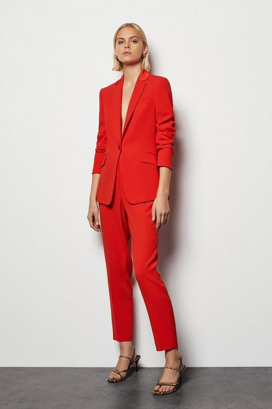 Womens Red Tailored Suit Jacket
