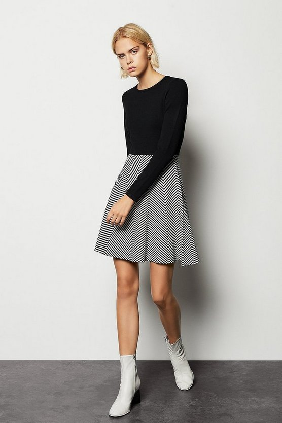 Multi Stripe Knit Dress