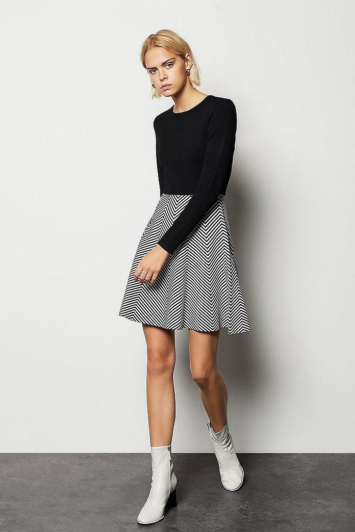 Stripe Knit Dress | Karen Millen