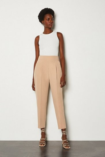 Nude Tailored High Waist Slim Leg Trousers