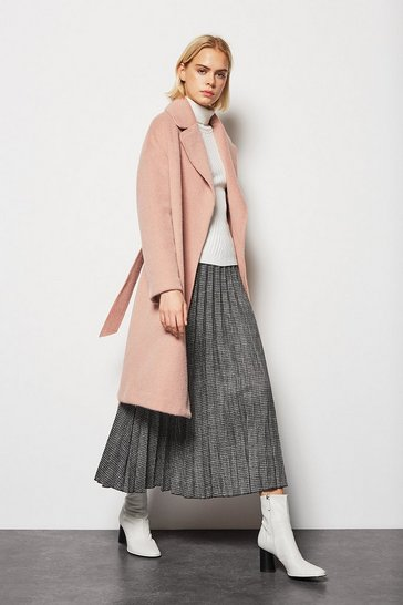 Womens Rose Belted Shawl Wrap Coat