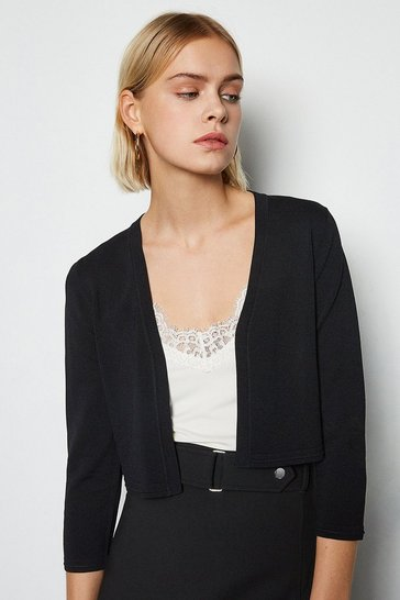 Black Cropped Knit Bolero