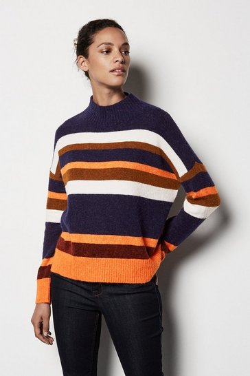 Womens Multi Striped Jumper