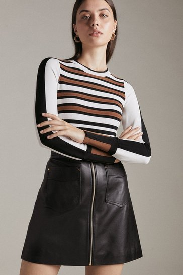 Womens Multi Bold Stripe Knit Jumper
