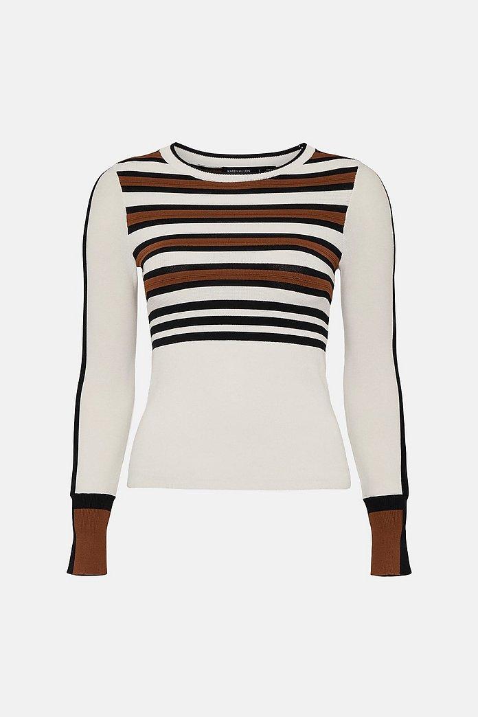 Bold Stripe Knit Jumper | Karen Millen