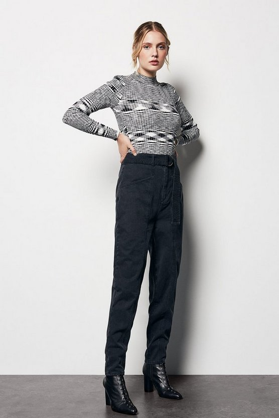 Black D-Ring Trousers