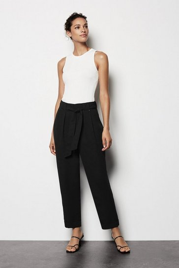 Womens Black Utility Trousers