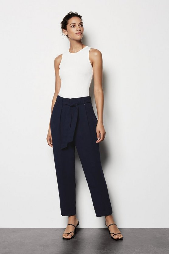Womens Navy Utility Trousers