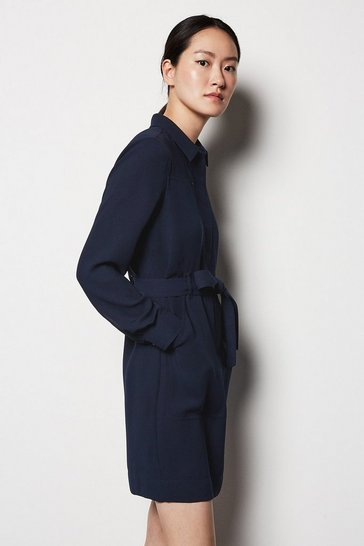 Womens Navy Utility Dress