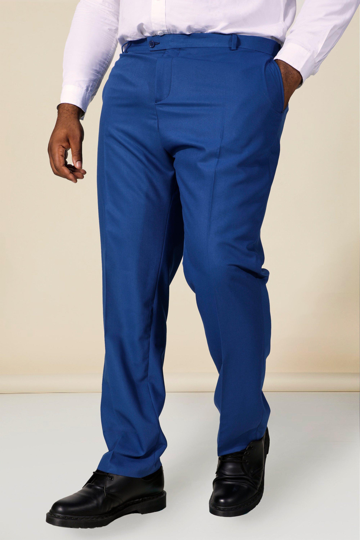 60s – 70s Mens Bell Bottom Jeans, Flares, Disco Pants Mens Plus Skinny Smart Pants - Blue $40.00 AT vintagedancer.com