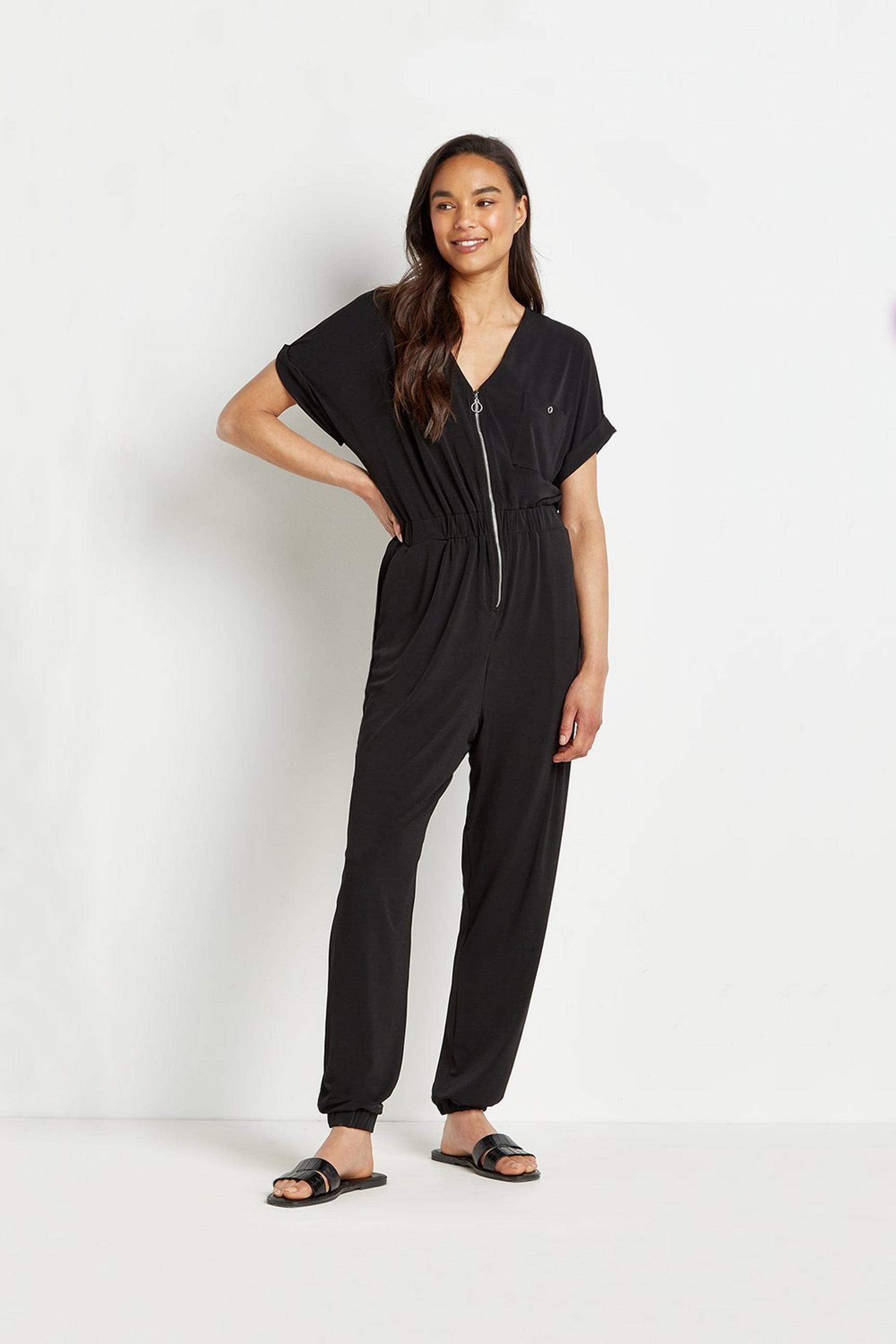 Tall Zip Front Jumpsuit