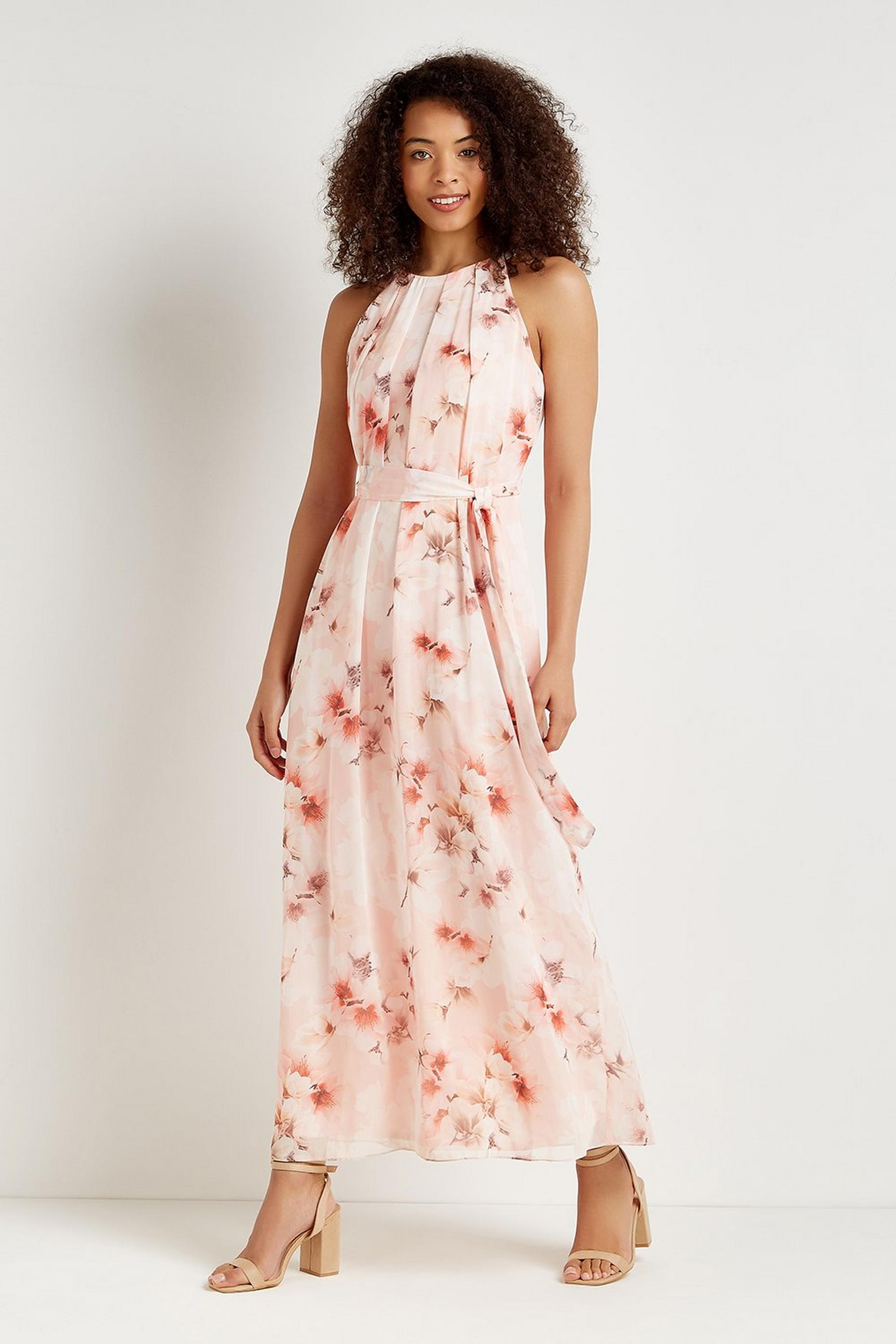 Magnolia Blossom Floral Maxi Dress