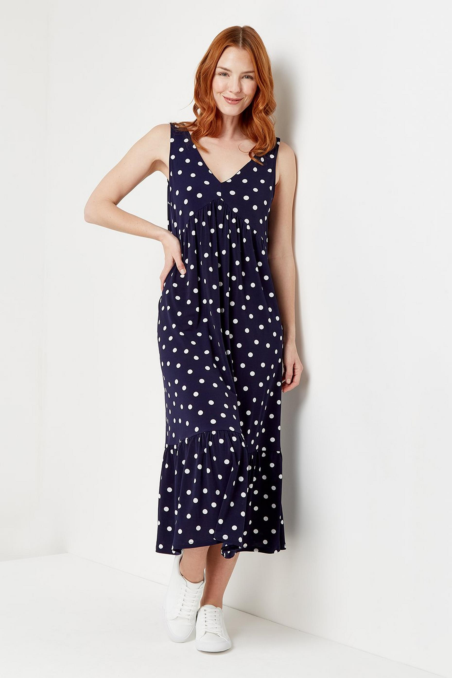 Navy Spot Sundress