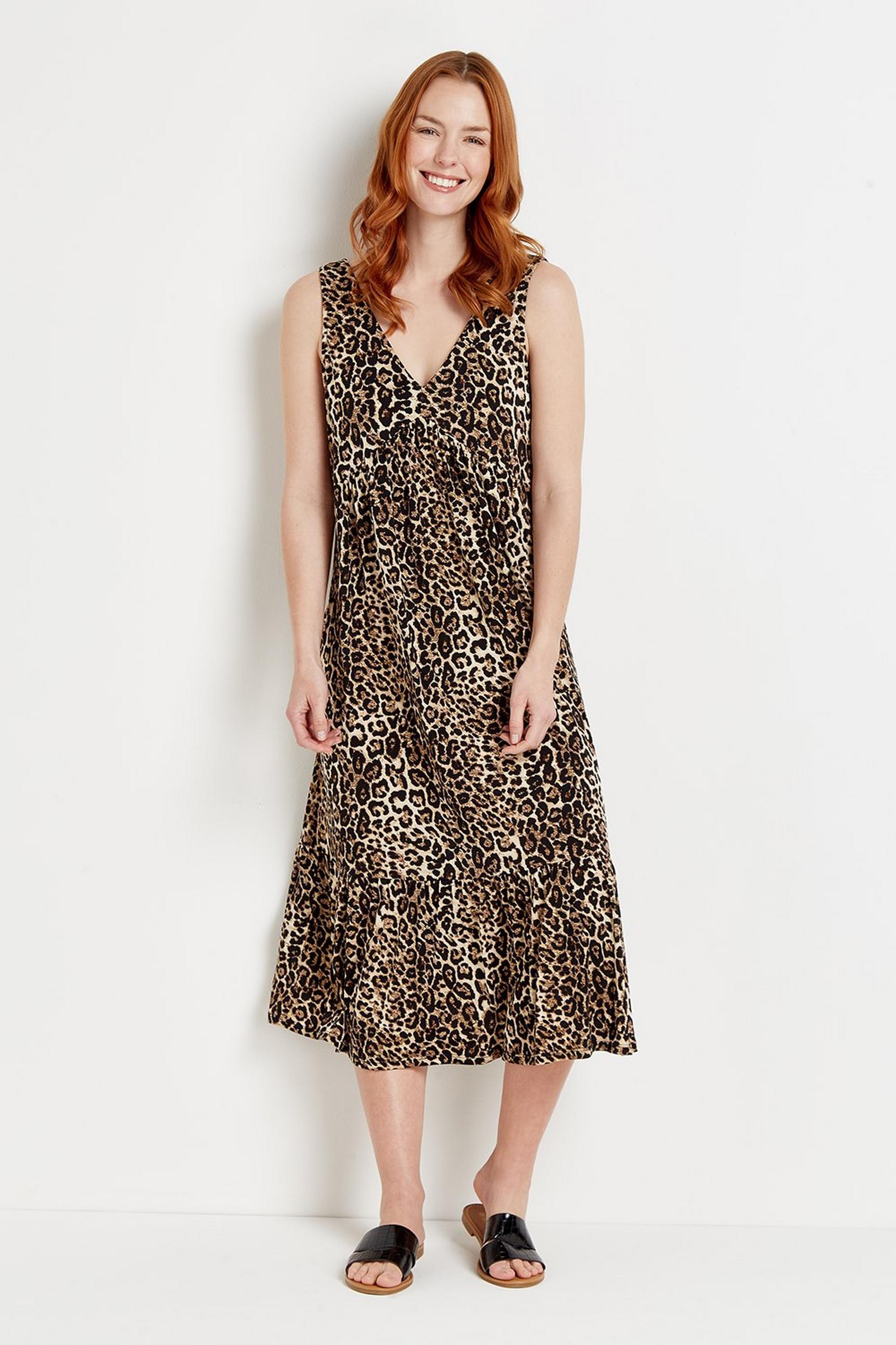 Animal Jersey Sundress