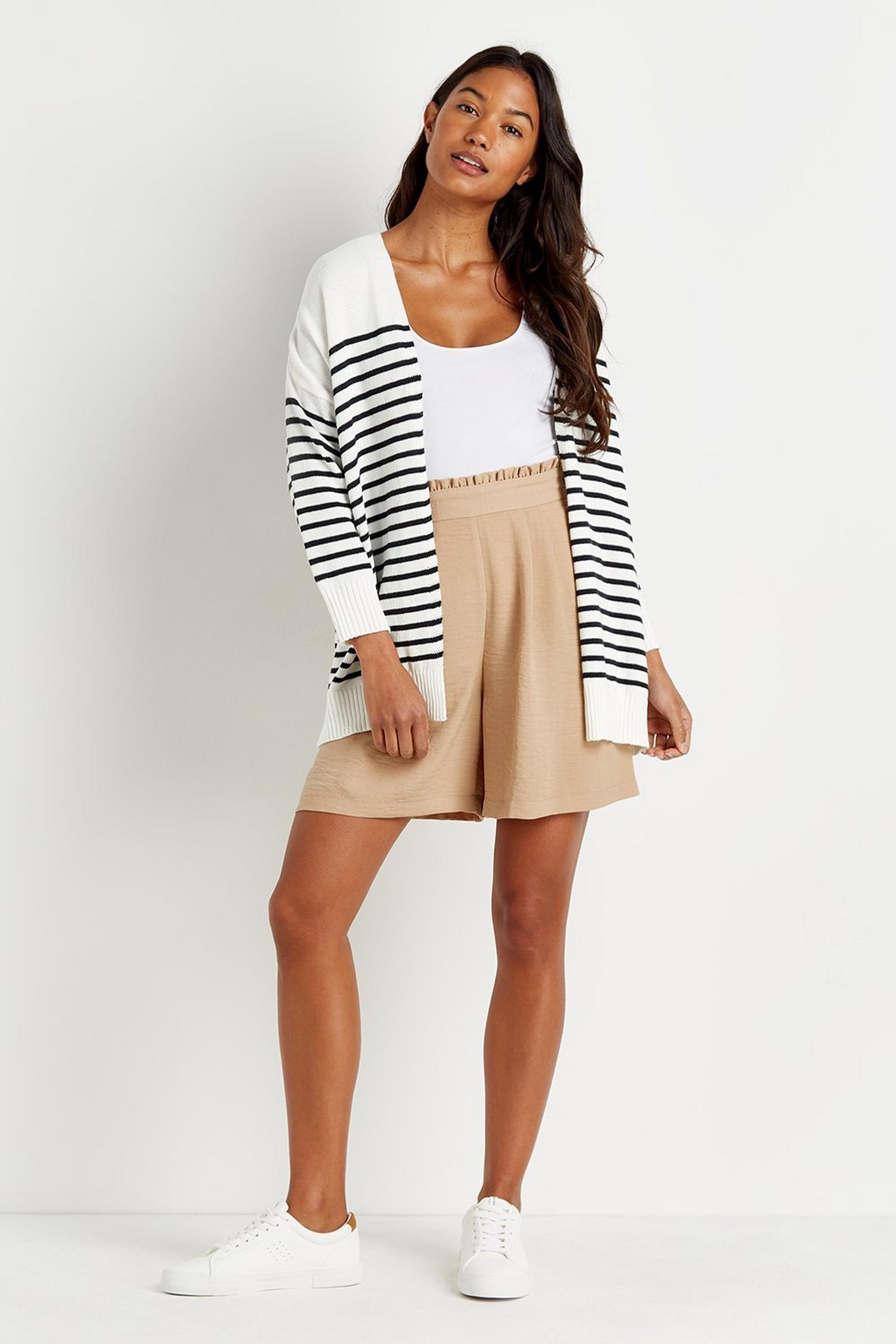 Stripe Edge To Edge Cardigan