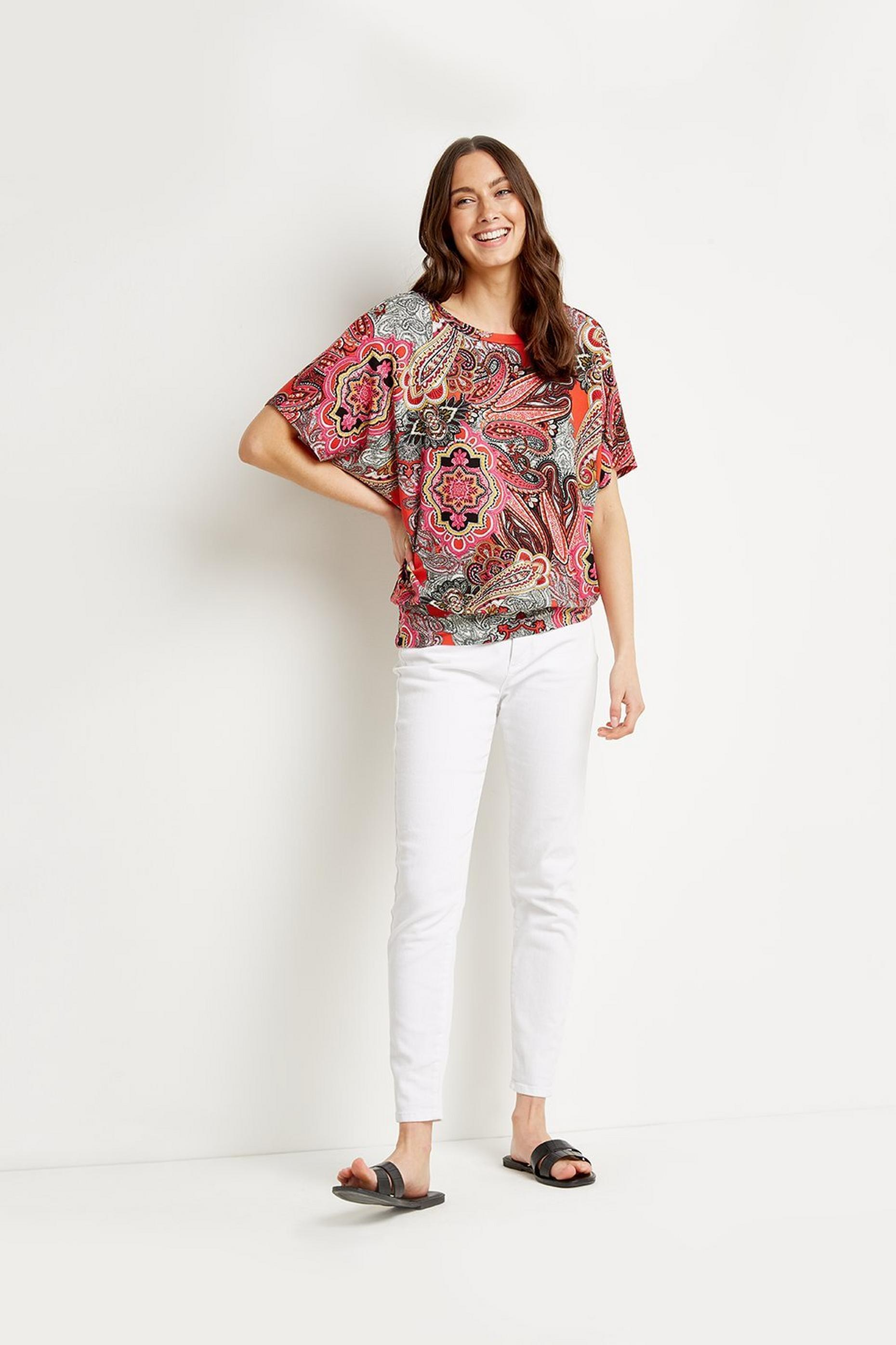 Paisley Banded Top