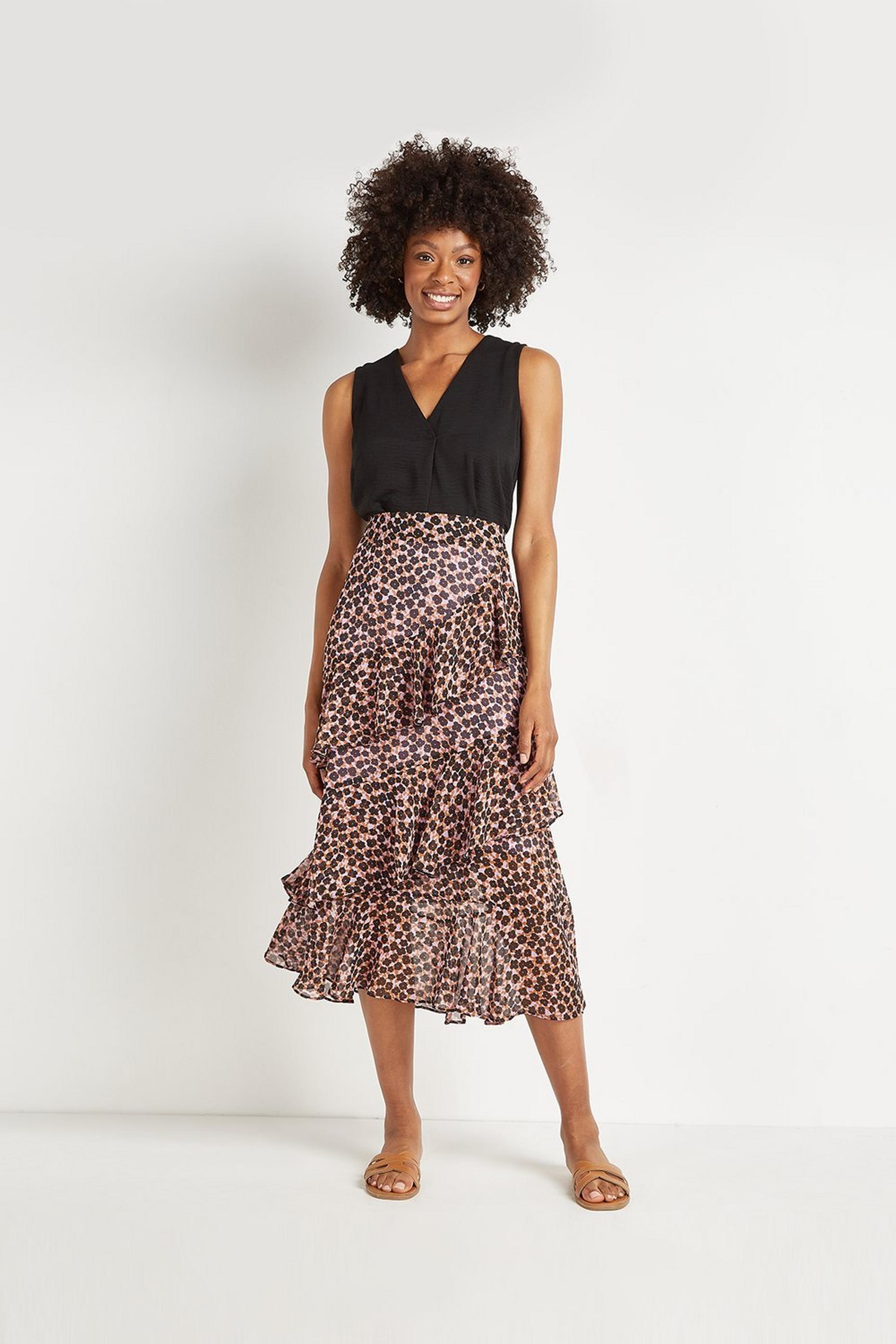 Shadow Daisy Frill Skirt