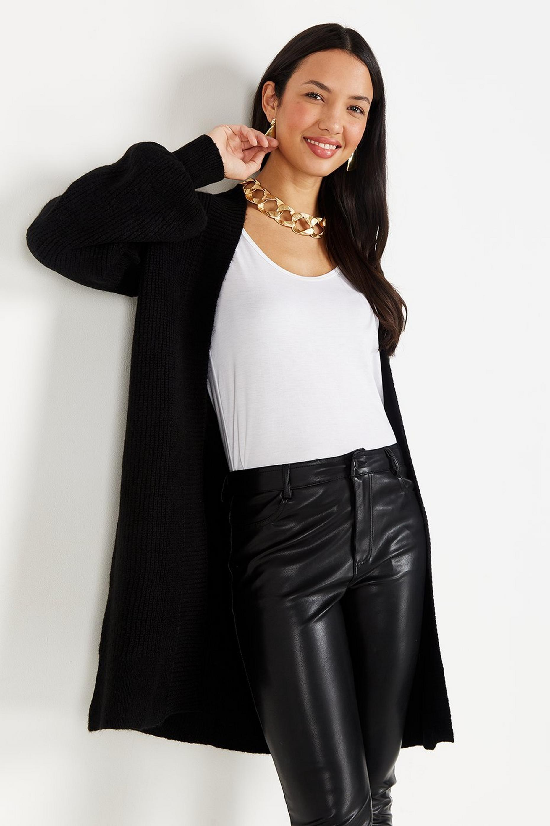 TALL Black Knitted Cardigan