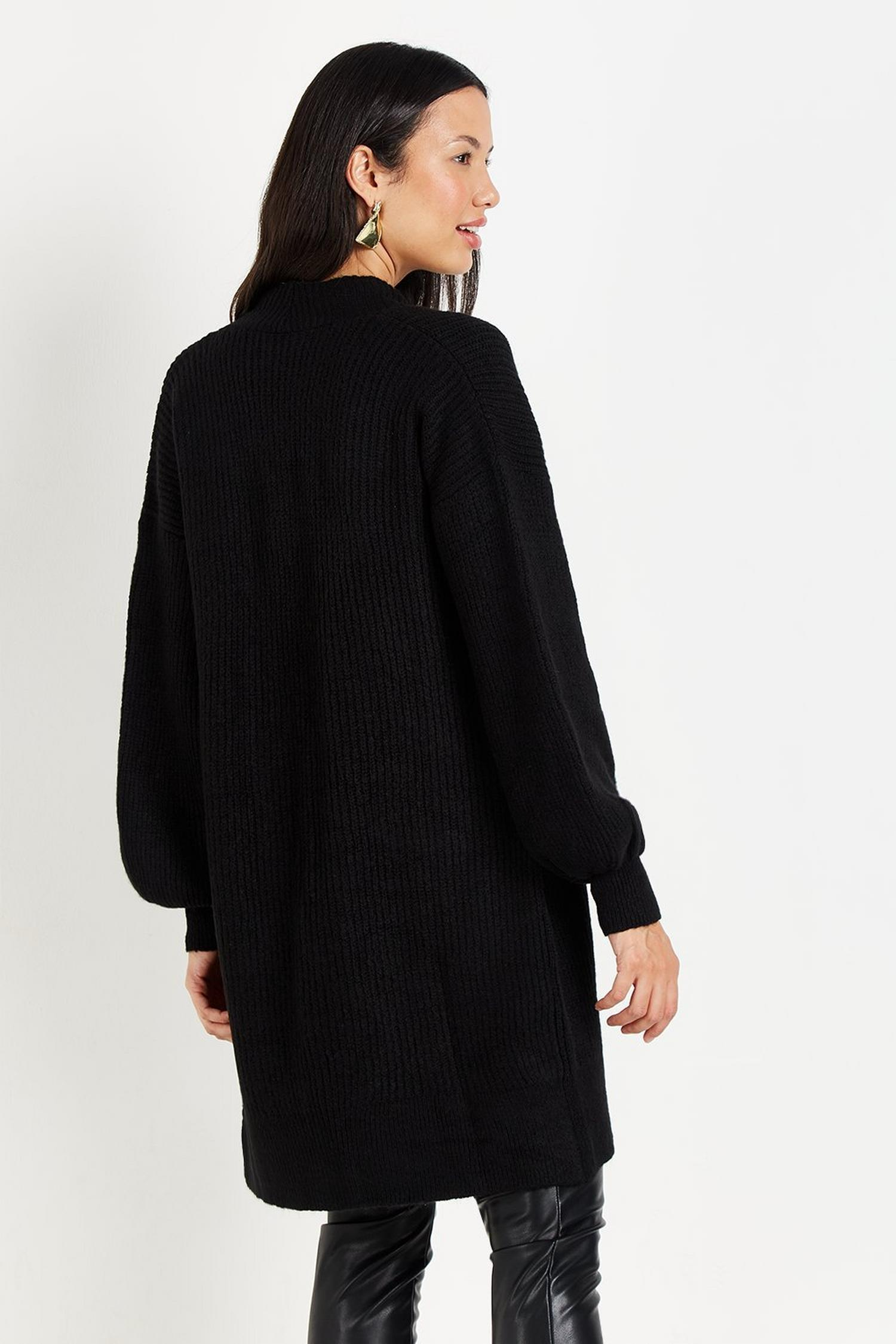 105 TALL Black Knitted Cardigan image number 3