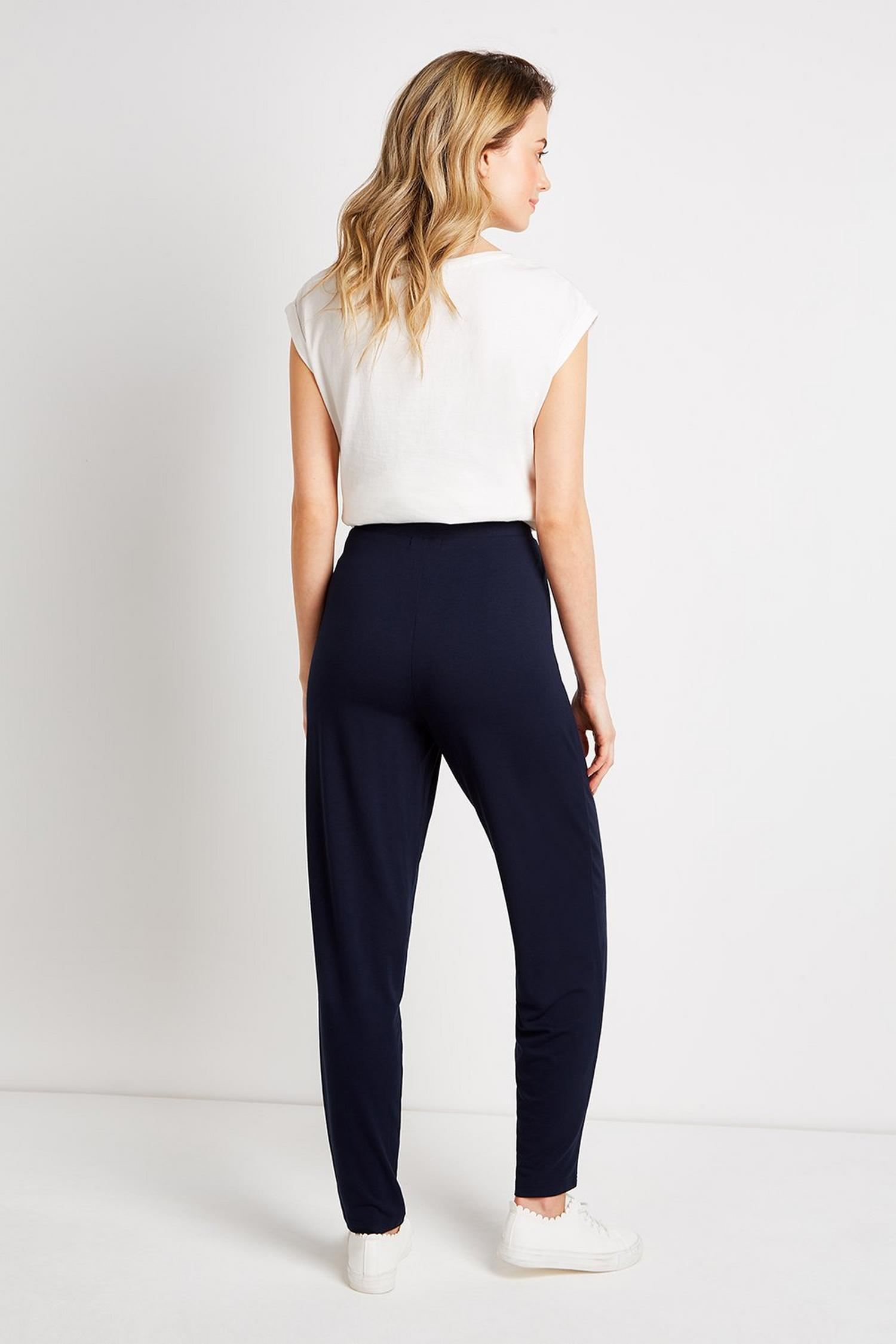 148 TALL Navy Tapered Trousers image number 3