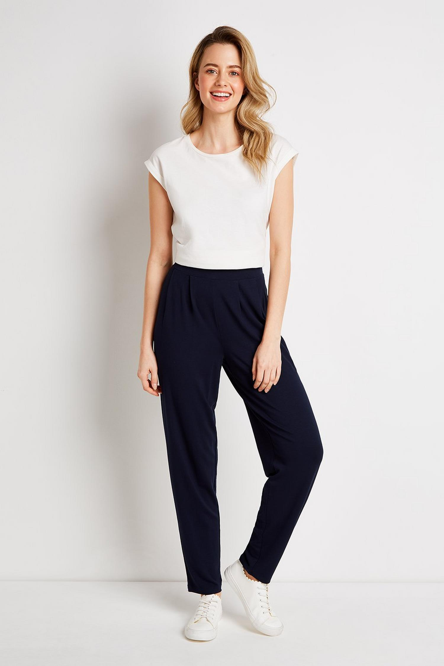 148 TALL Navy Tapered Trousers image number 4