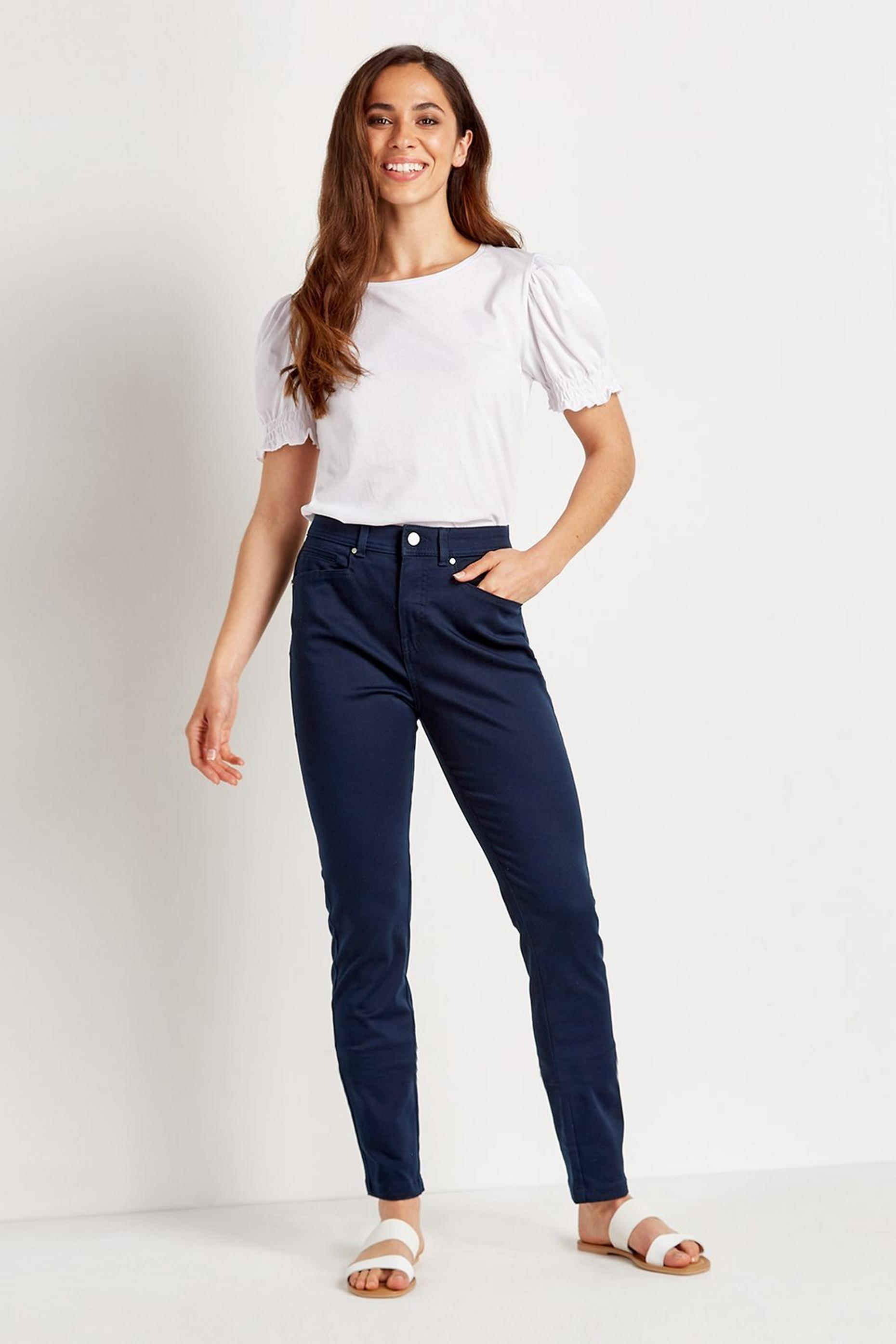 TALL Navy Skinny Trousers