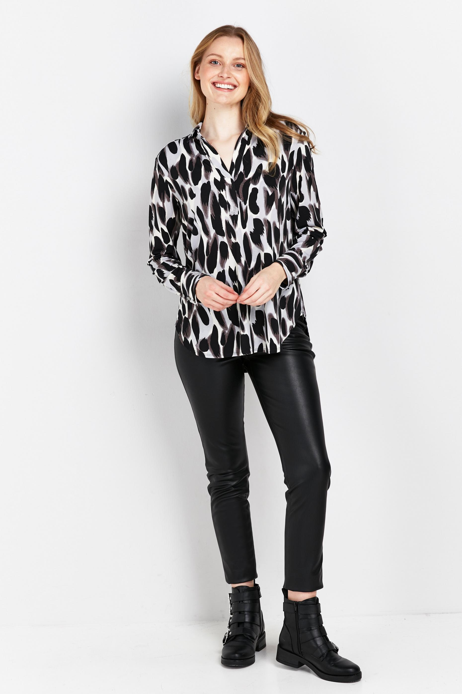 Tall Black Brushstroke Jersey Shirt