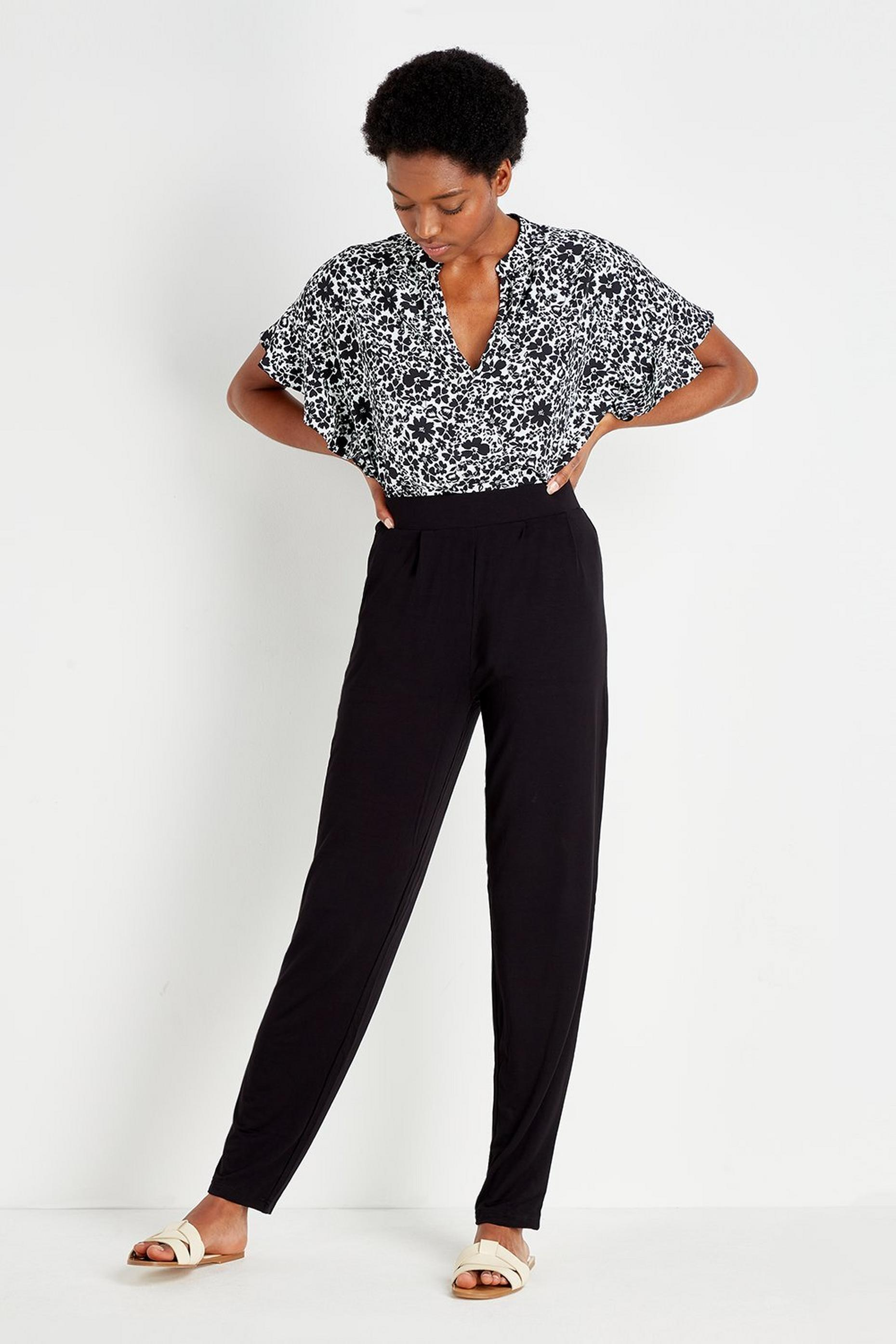 TALL Black Tapered Trousers