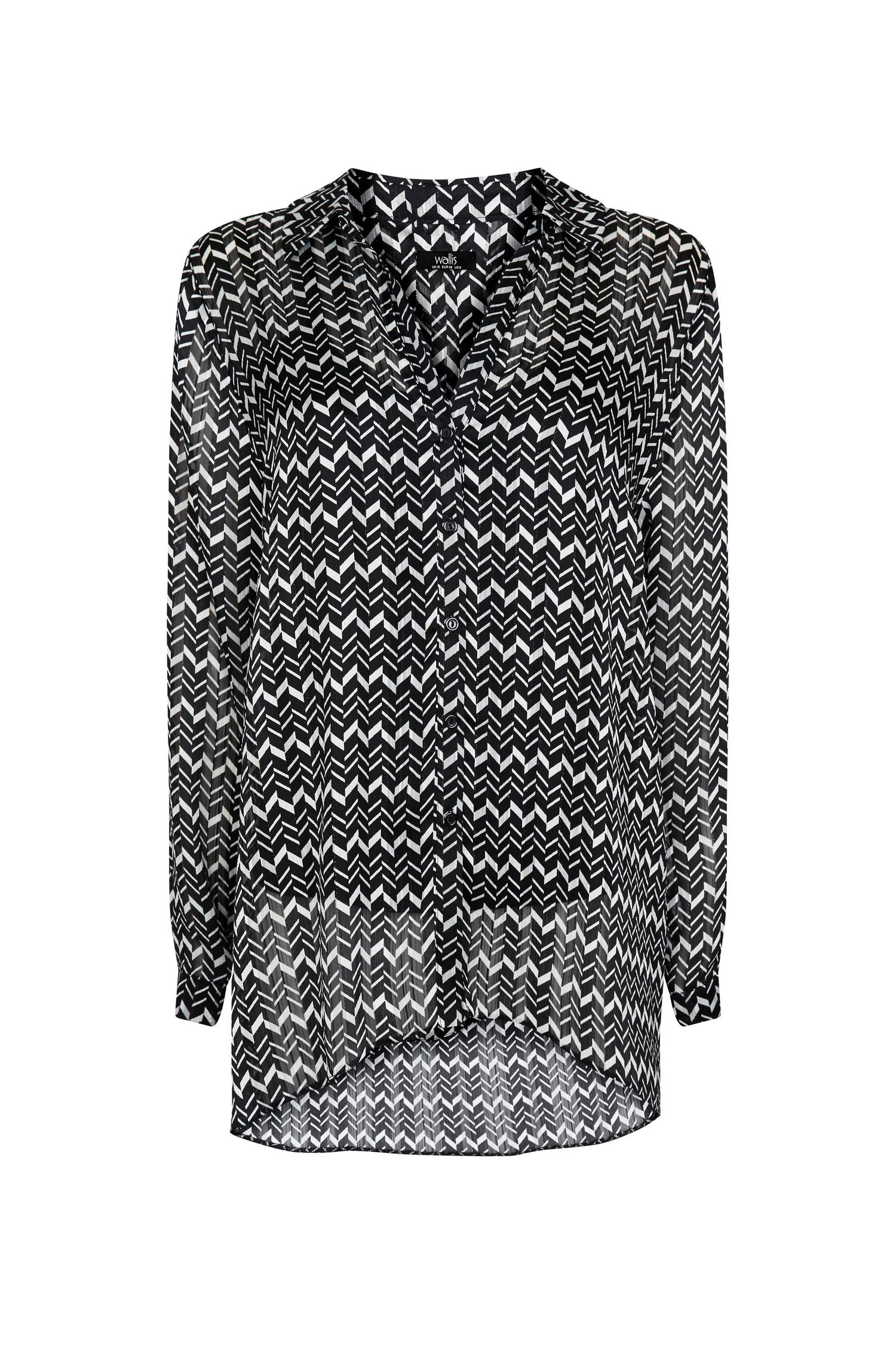 585 Tall Monochrome Printed Longline Shirt image number 4