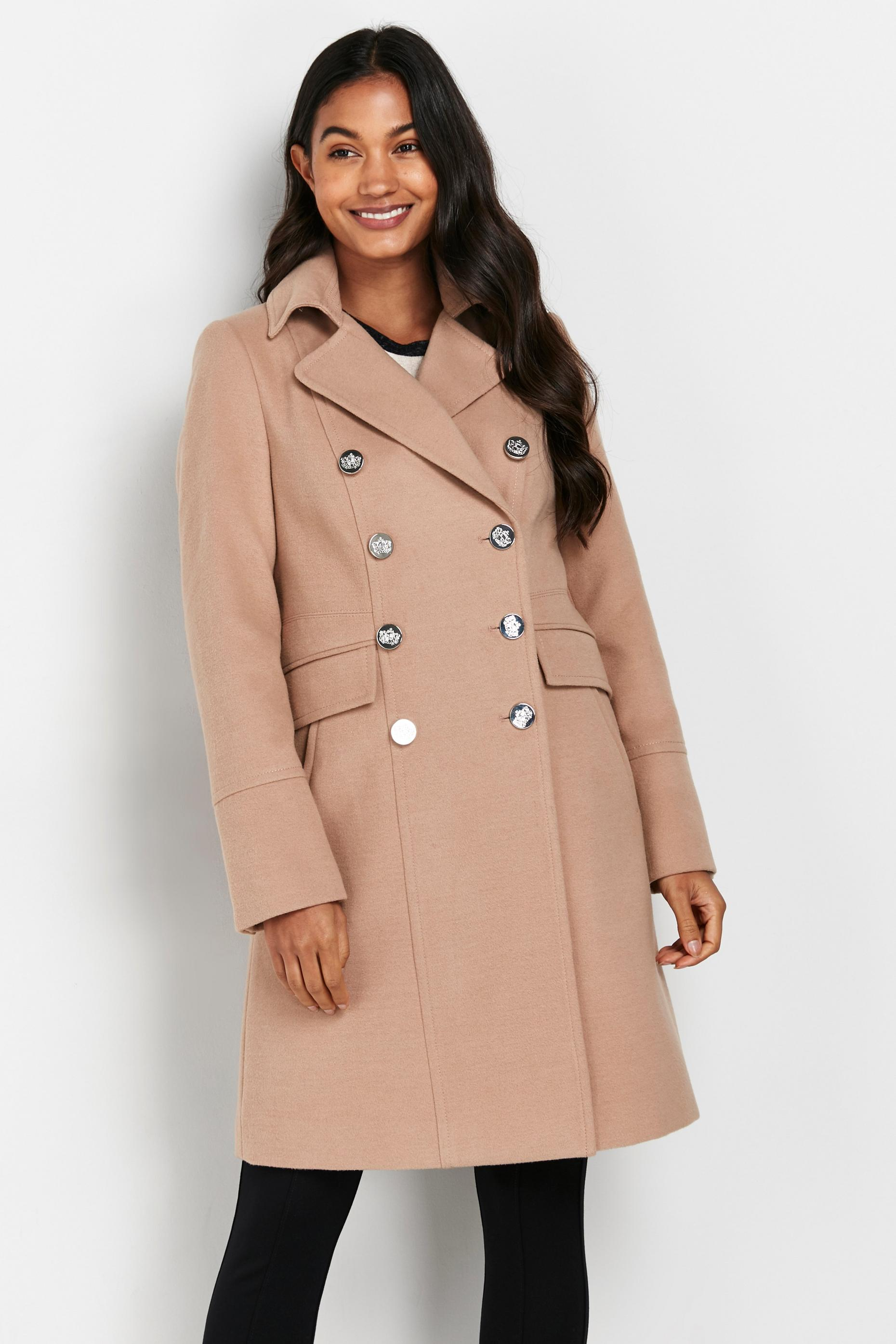 Stone Faux Wool Coat