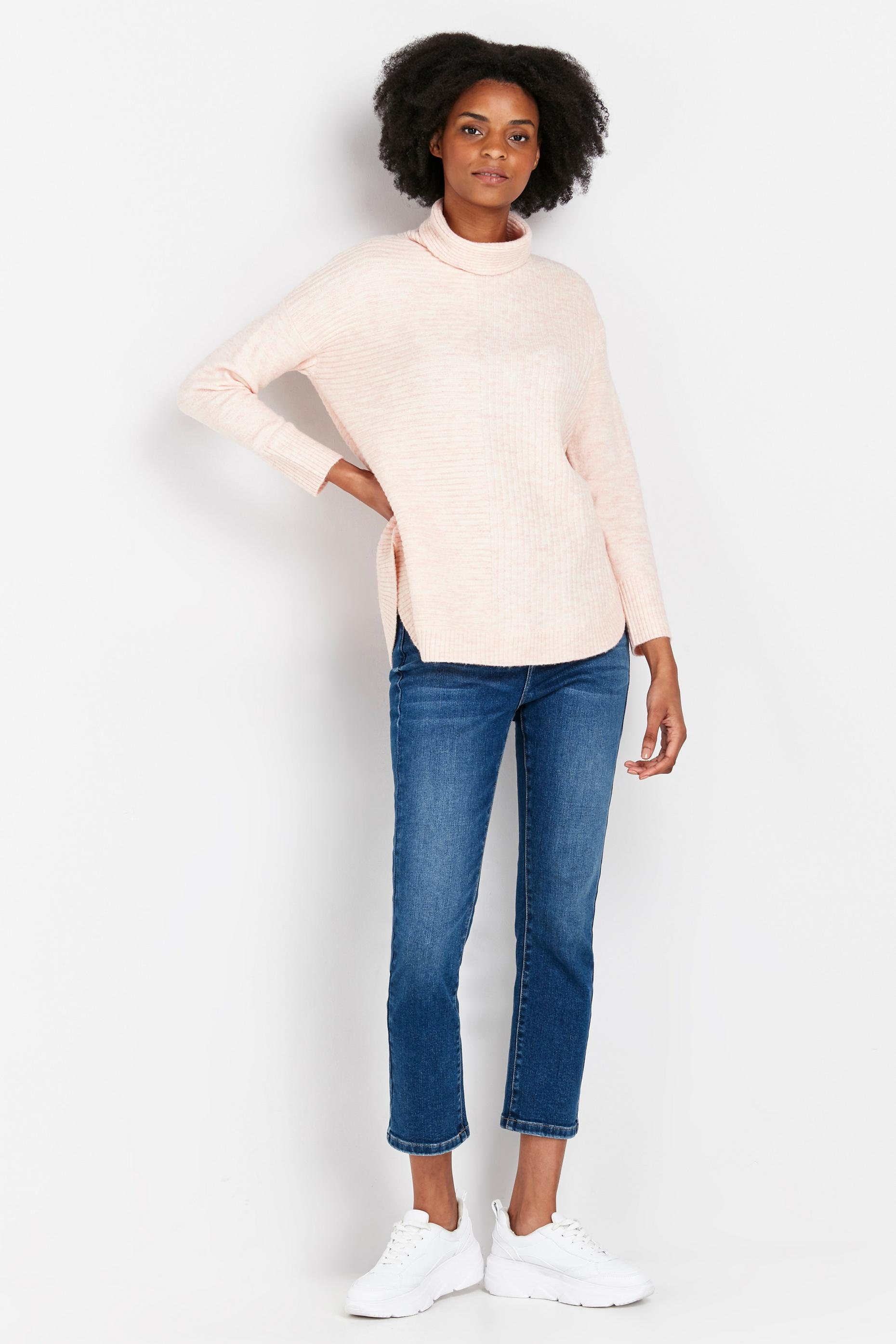 PETITE Blush Ribbed Jumper