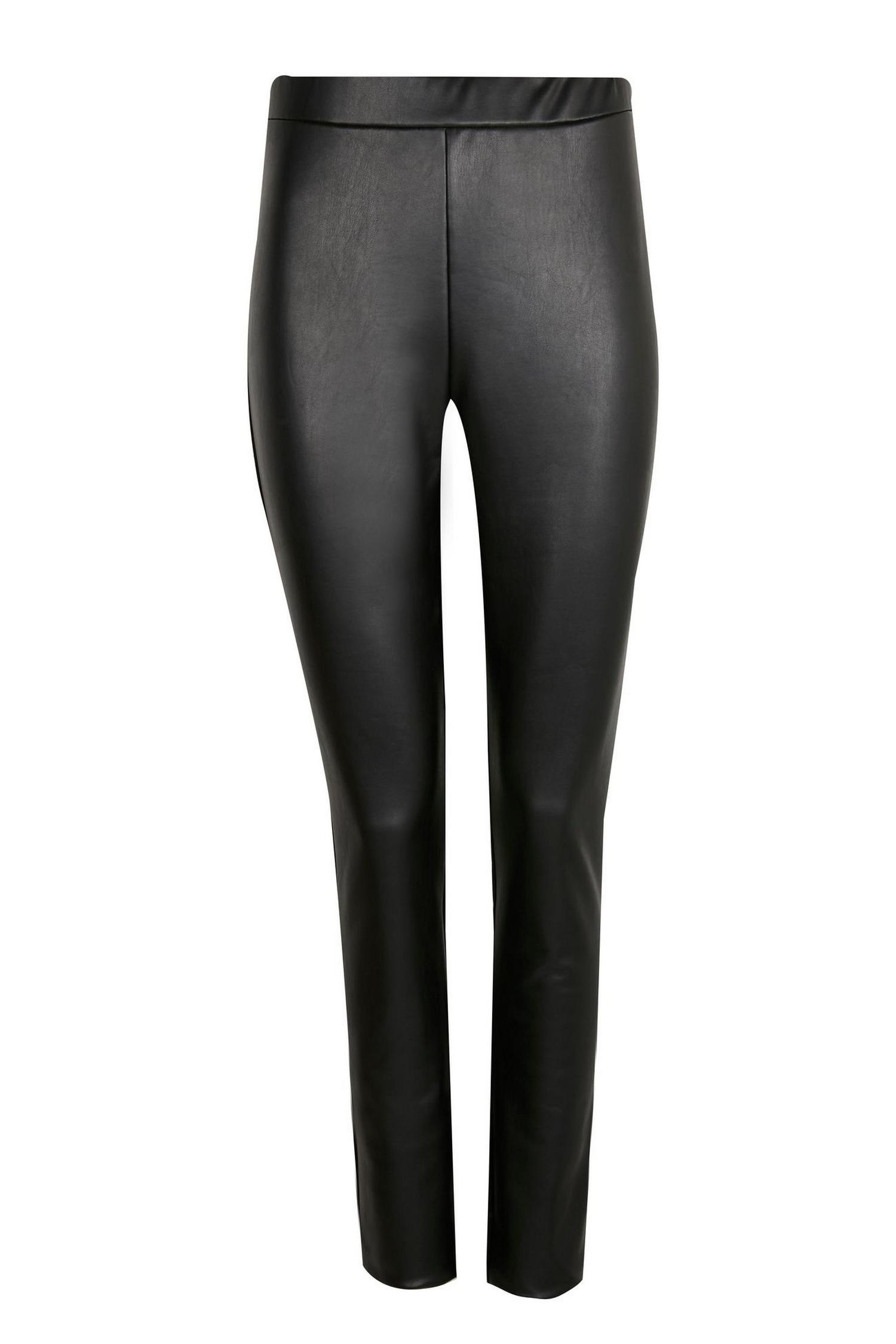 105 PETITE Faux Leather Leggings image number 4
