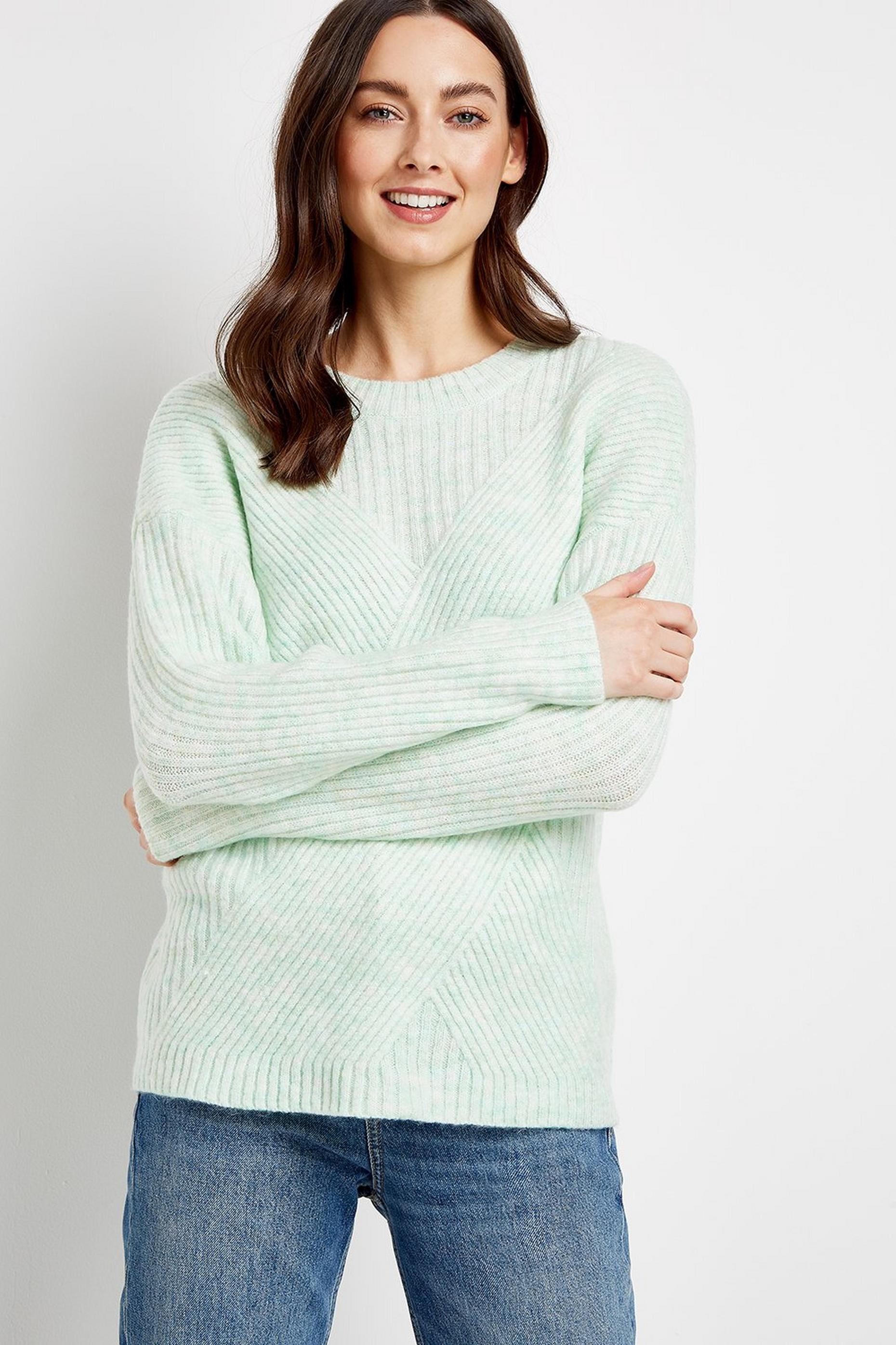 Mint Ribbed Jumper