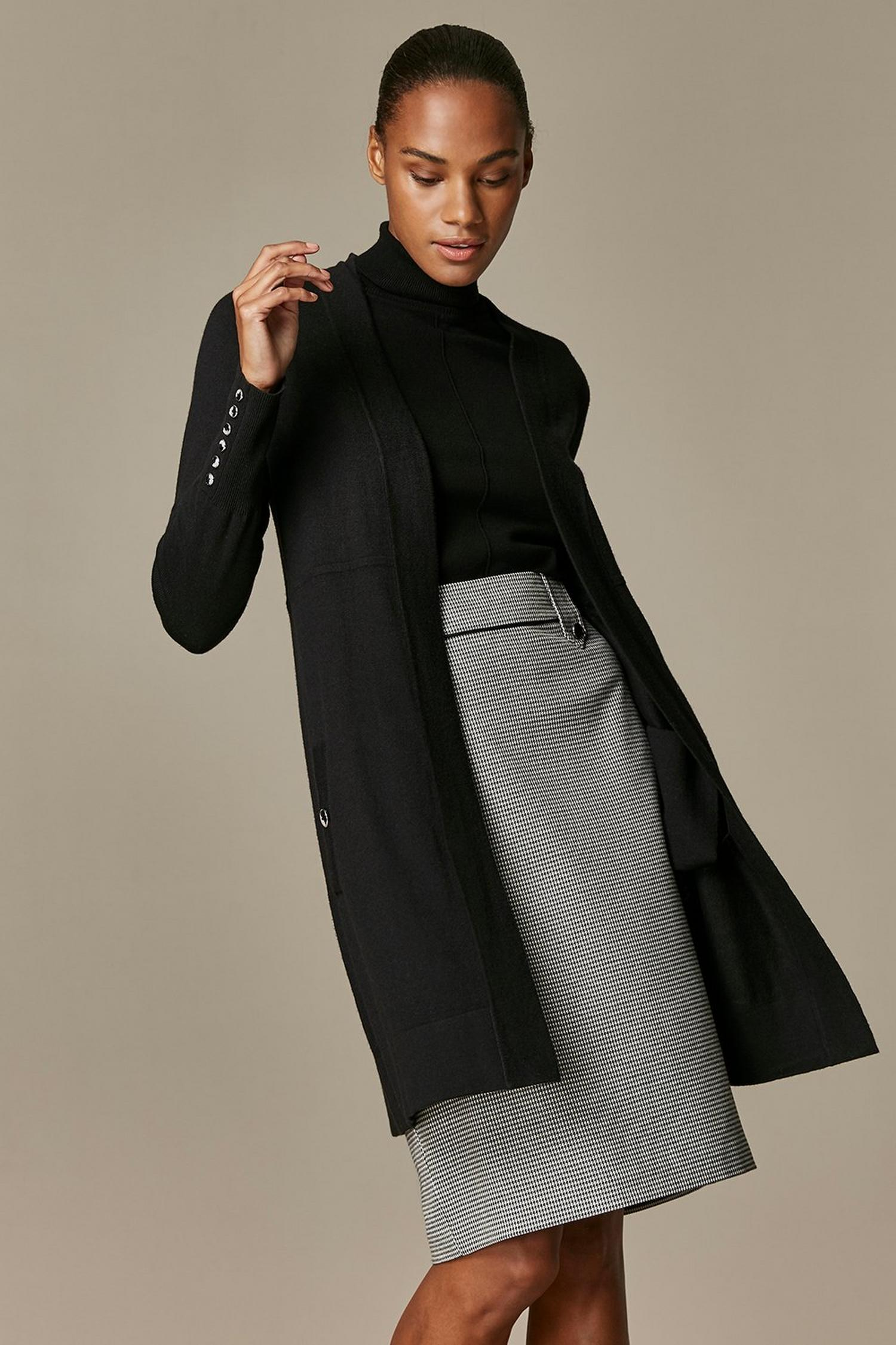 105 Black Wool Blend Cardigan image number 1