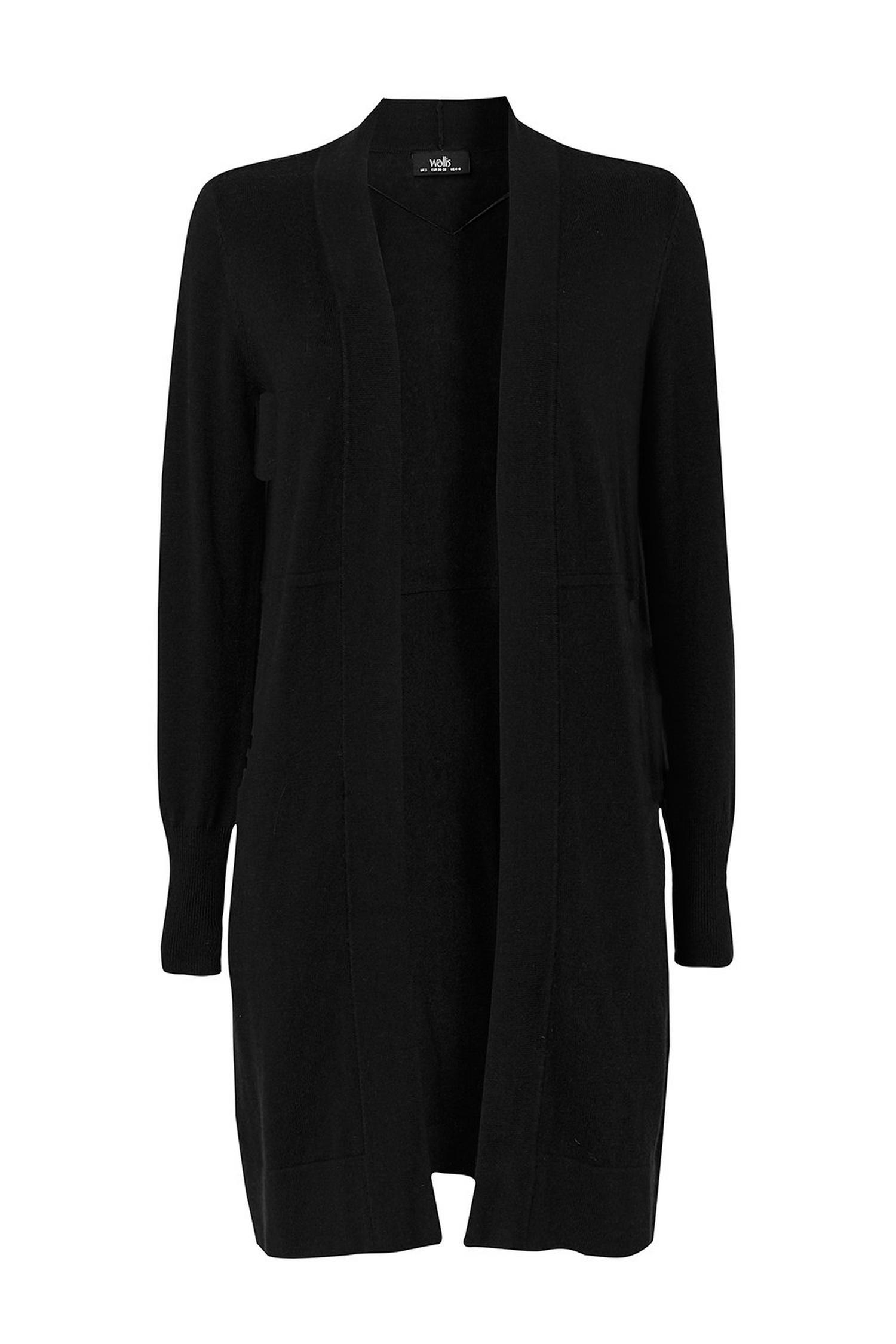 105 Black Wool Blend Cardigan image number 2