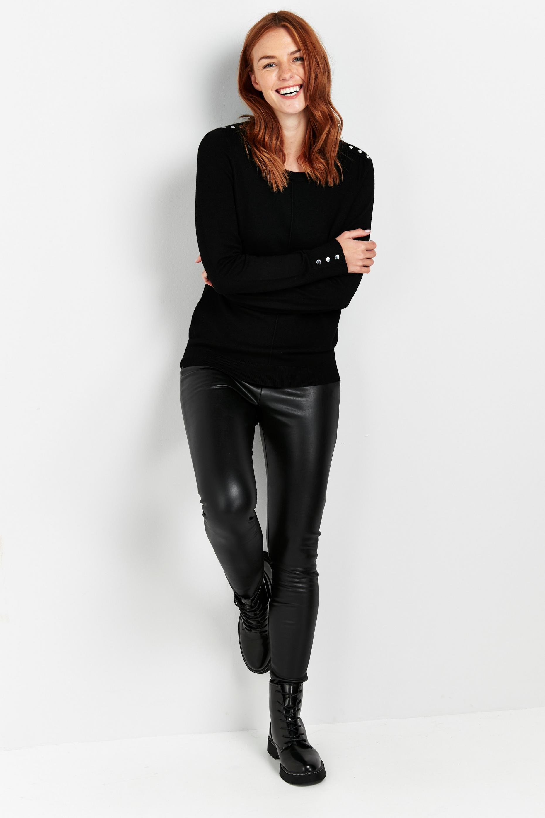 Black Stud Shoulder Jumper
